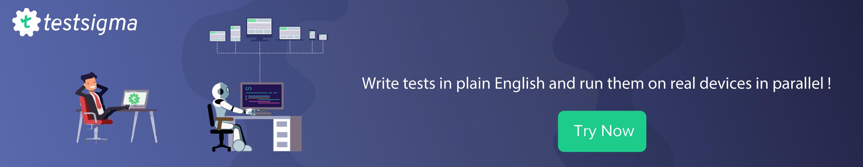 Try Testsigma banner ad