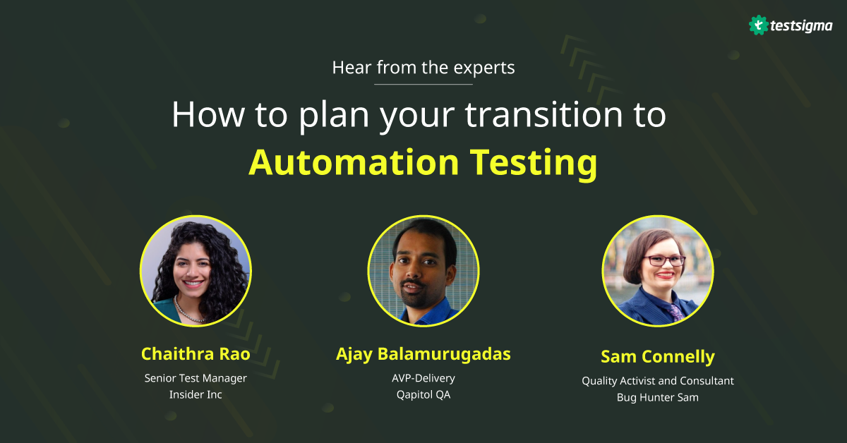 How To Plan Your Transition From Manual To Automation Testing